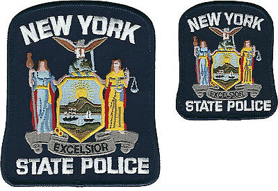 New York State Police Shoulder Patch and Hat Patch - New