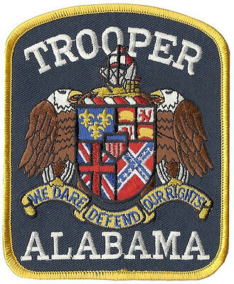 Alabama State Trooper Police Shoulder Patch 5 inches tall by 4 inches wide NEW