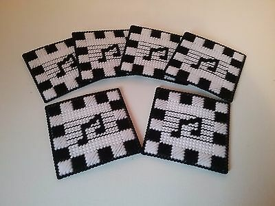 """Handcrafted """"merry Melody Coasters"""" Set Of 6"""