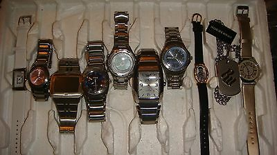 Trade Only Job Lot Of 10 X Mixed Names Watches 100% Gen.,