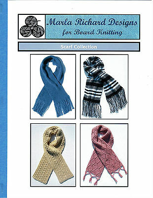 Scarf Collection Pattern for Knitting Board, Loom,Frame