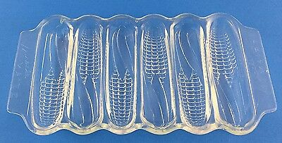 Vintage 1940s Miracle Maize Corn Cob Sticks Cornbread Mold Baking Glass Dish