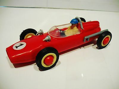 Vintage Plastic Cooper Race Car - 1970's - Made In Portugal By Pepe -