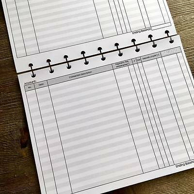 Check Register Inserts | Mid Size | Discbound | 15 Sheets | E505D