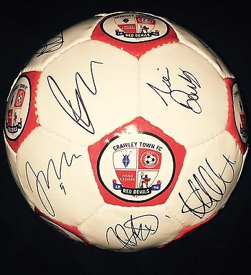 Squad Signed Crawley Town Official Football Size 5 2015/2016 Season
