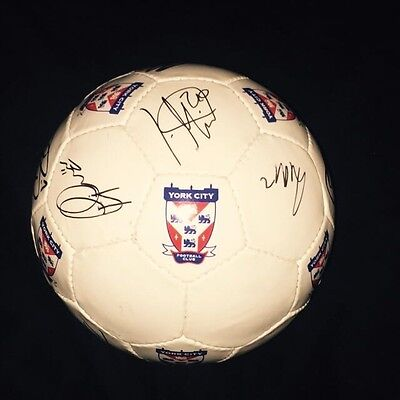 Squad Signed York City Official Football Size 5 2015/2016 Season