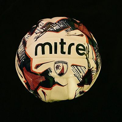 Squad Signed Chesterfield Mitre Official Football Size 5 2015/2016 Season