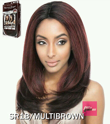 BS223 - ISIS(Mane Concept) Brown Sugar Human Hair Style Mix Soft Lace Front Wig