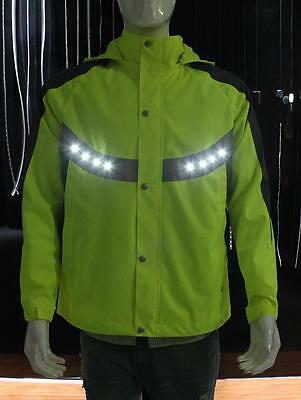 LED light up USB rechargeable Hi Vis, High Visibilty Clothing