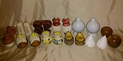 Estate Find Vintage Mid Century LOT of Salt & Pepper Shakers JAPAN & USA 20piece