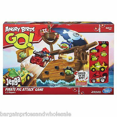 OFFICIAL Angry Birds Go! Jenga Pirate Pig Attack Game Girls Boys Gift