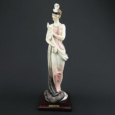 """SIGNED Giuseppe Armani Italy Woman w/ Compact 1987 Figurine 13"""" Tall Excellent!"""
