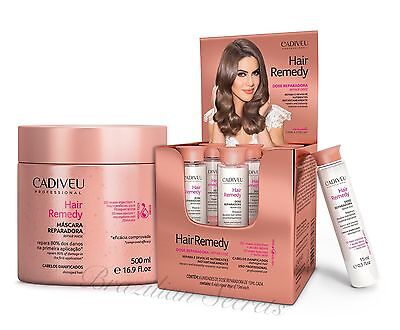 CADIVEU HAIR REMEDY DAMAGED HAIR 3D MAXX MASK & 6x 15ml INSTANT REPAIR DOSE KIT