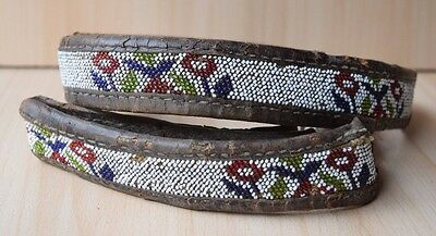 Traditional Collectible Antique Native North American Beaded Handmade Belt #13