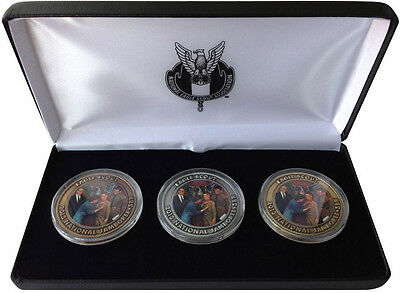 Jamboree Coin set in presentation case. Three different Proud Moment coins.