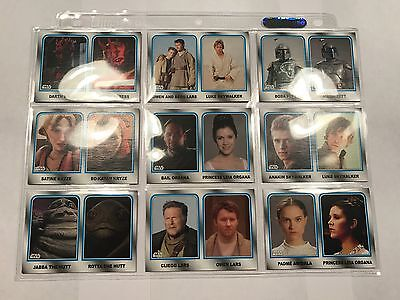 2015 Topps Star Wars Journey to the Force Awakens Family Legacy NON GLOSSY Set