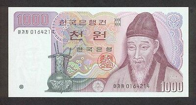 South Korea 1000 Won Banknote (1983-2002 Currency)