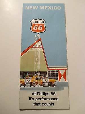1969 PHILLIPS 66 NEW MEXICO Oil Gas Service Station Road Map