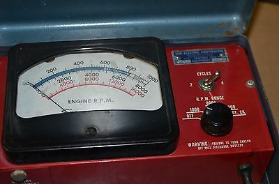 Vintage Sun Electric Corp Engine RPM ST160 Tester Test Equipment MADE IN USA