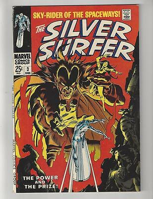 Silver Surfer #3/Silver Age Comic Book/1st Mephisto/Infinity Gauntlet/VF-