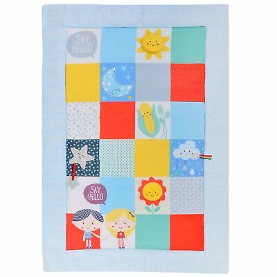 East Coast Nursery Baby / Child / Kids Say Hello Patchwork Activity Mat