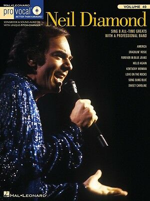 Neil Diamond - Pro Vocal Men's Edition Music Book with CD - Volume 40