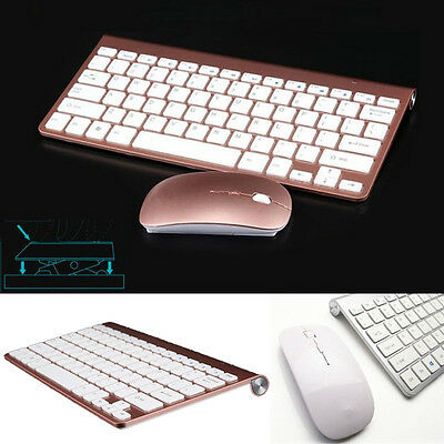 Ultra-thin Mini Keyboard Suit 2.4G Wireless Keyboard and Mouse For PC Computer