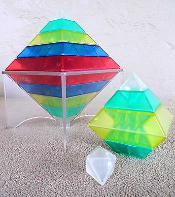 Translucent colors Wedgits stacking building blocks kids pyramid teaching toy