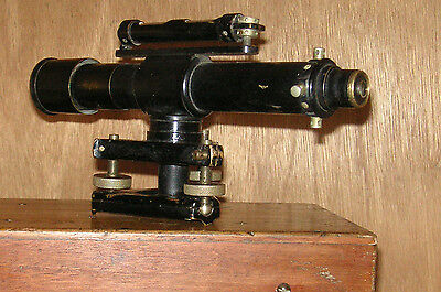 E R Watts and Sons Theodolite Vintage Surveying Instrument In Original Case