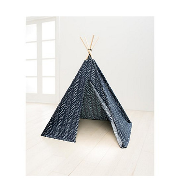 Teepee Play Tent Kids Indoor Outdoor Children Pretend Home Playhouse Cotton Blue