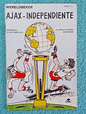 1972 - WORLD CLUB CUP FINAL PROGRAMME - AJAX v INDEPENDIENTE