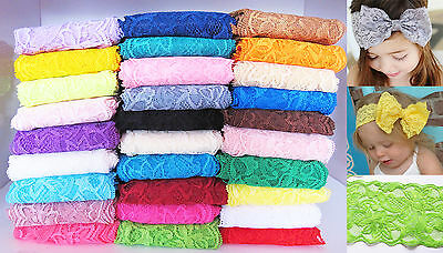 1 Yard of 8cm Elastic Strechy Lace Trim Ribbon Fabric Decor Crafts Sewing DIY