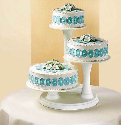 3 Tier Pillar Style Cake And Cupcake Stand Wilton 307 350