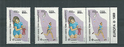Cyprus Turkey 1989 Europa Set And Imperf X Perf Mnh