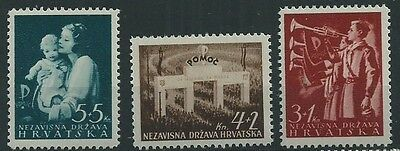 Croatia 1942 Relief  Set Pristine Mnh**