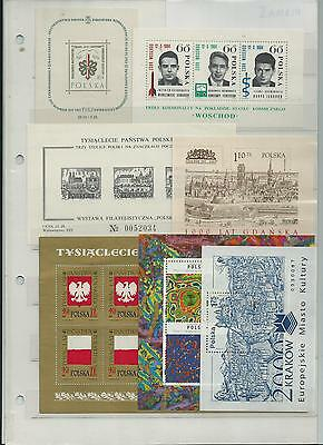Poland Selection Of Sheets All  Pristine Mnh