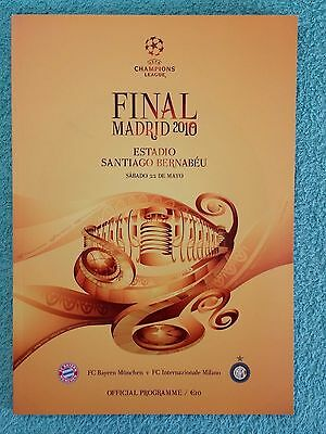 2010 - CHAMPIONS LEAGUE FINAL PROGRAMME - BAYERN MUNICH v INTER MILAN