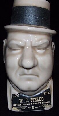 W.C. Fields Large Face Bust Kentucky Bourbon Liquor Decanter McCoy Pottery
