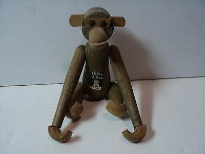 Vintage Teak Wood Hanging Monkey, Danish Style, Made in Japan. NICE
