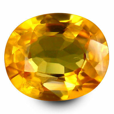 0.945Cts Impressive Top Luster Golden Yellow Natural Sapphire Oval Loose Gems