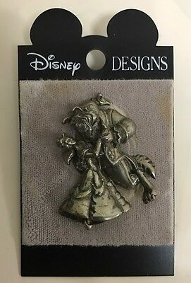 Disney Store Japan Beauty Beast Pin Sterling Silver Pin Free Shipping Belle Rare