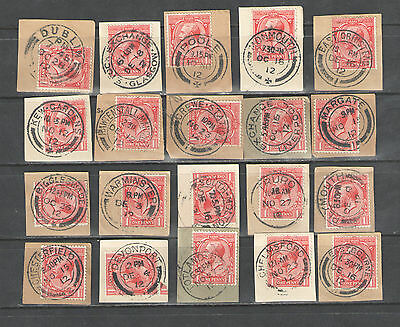 GB  George V  Town Cancels  on  1d  all dated 1912