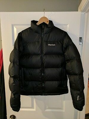 59aa32858f6 MARMOT OURAY 700 Down Fill Red Team Blue Jacket Bomber Puffer S M ...