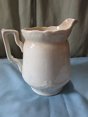 Antique Anchor Pottery Ironstone Pitcher - Trenton, New Jersey, USA - circa 1908
