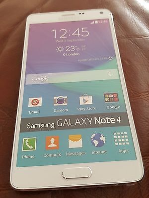 DUMMY Samsung Galaxy Note 4 mobile phone handset WHITE (Unboxed)