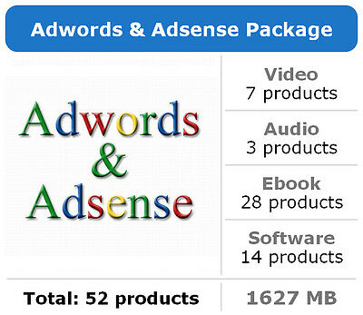 Adwords and Adsense Package / 52 Products / Large Collection