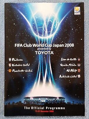2008 - Fifa Club World Cup Tournament Programme - Manchester Utd