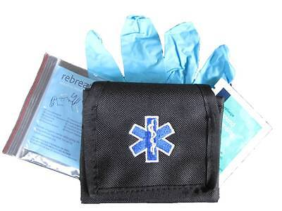 Embroidered Star of Life Glove Pouch inc CPR KIT for Ambulance Paramedic St John