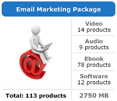 Email Marketing Package / 113 Products / Large Collection