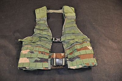 USGI MOLLE II Assault Vest - Woodland BDU Camo, Issued, Great Condition